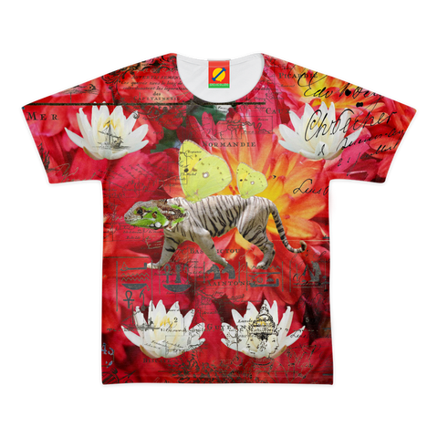 ANIMAL MIX - THE TIGER LIZARD AND THE LOTUS Women's All Over Print Tee