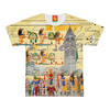 THE COLORFUL HIEROGLYPHICS AND THE MANOR HOUSE Women's All Over Print Tee