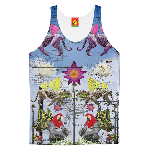 ANIMAL MIX - REFLECTIONS Men's All Over Print Tank Top
