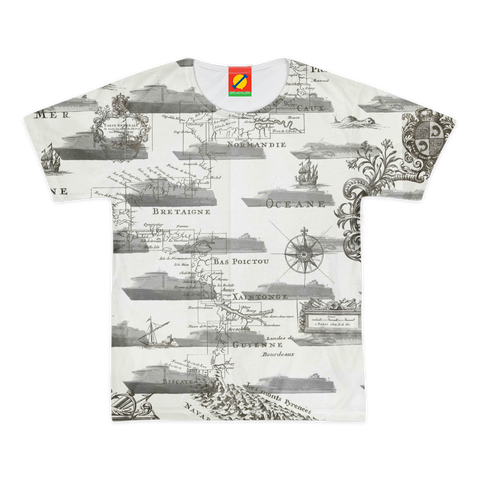 CRUISE SHIP COLLAGE Men's All Over Print Tee