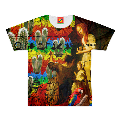 AND THIS, IS THE RAINBOW BRUSH CACTUS. II Men's All Over Print Tee