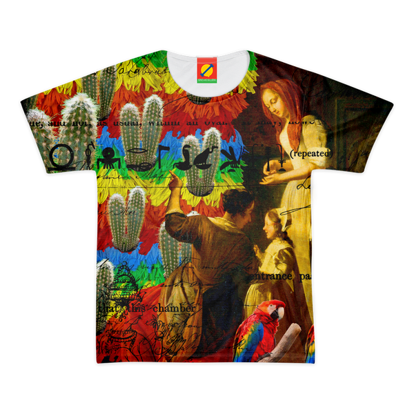 AND THIS, IS THE RAINBOW BRUSH CACTUS. II Women's All Over Print Tee