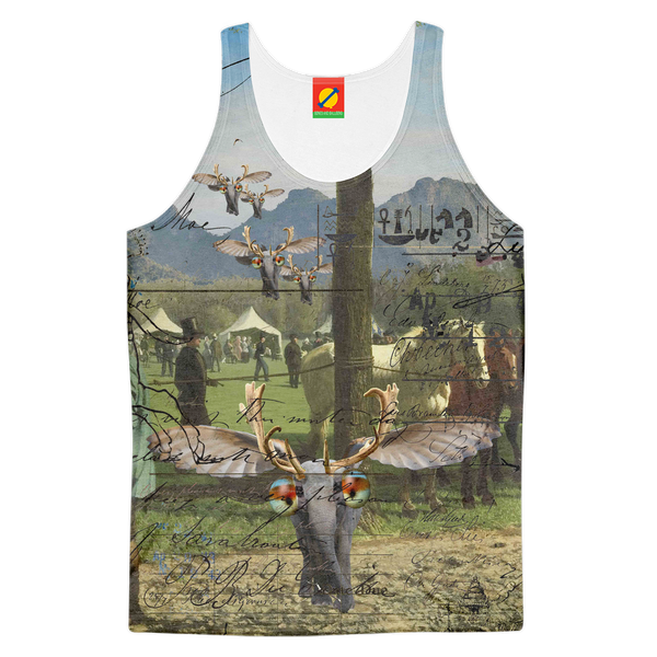 ANIMAL MIX - A SURPRISE AT THE RACES II Women's All Over Print Tank Top