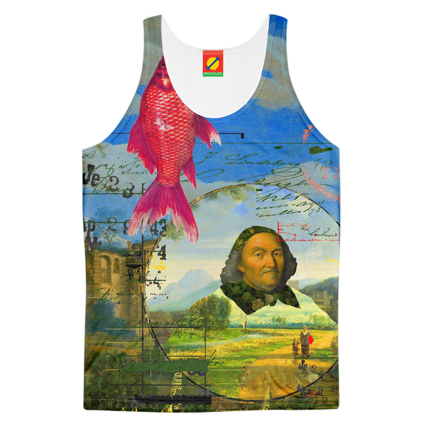 A LANDSCAPE COLLAGE Women's All Over Print Tank Top