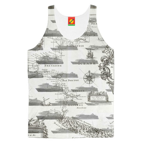 CRUISE SHIP COLLAGE Women's All Over Print Tank Top