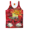ANIMAL MIX - THE TIGER LIZARD AND THE LOTUS Men's All Over Print Tank Top