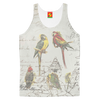 THE PARROT MAP II Women's All Over Print Tank Top