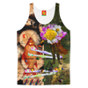BOUQUETMAN AND THE STUBBORN GOLDFISH II Women's All Over Print Tank Top