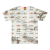 FISH AND A NAUTICAL MAP Men's All Over Print Tee