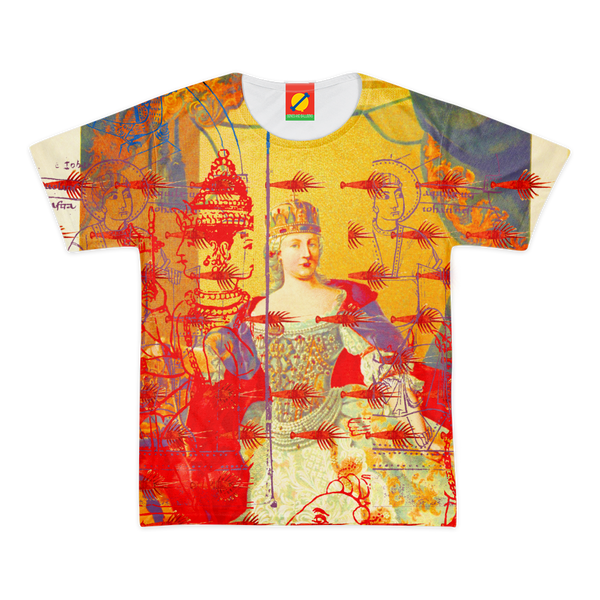THE ONE BIG QUEEN AND THE MANY LITTLE RED LOBSTERS Women's All Over Print Tee