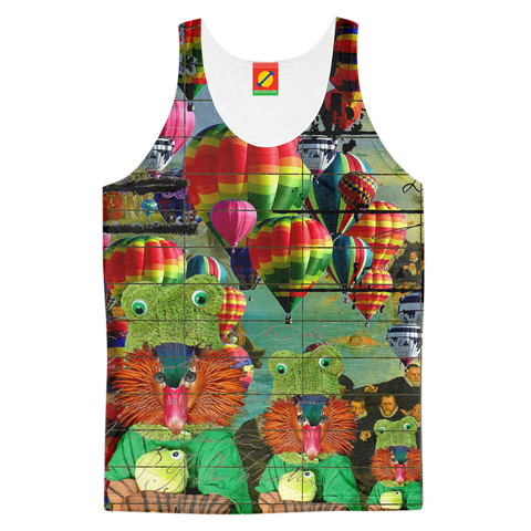 ANIMAL MIX - HOT AIR BALLOONS... AND LOST SOULS Women's All Over Print Tank Top