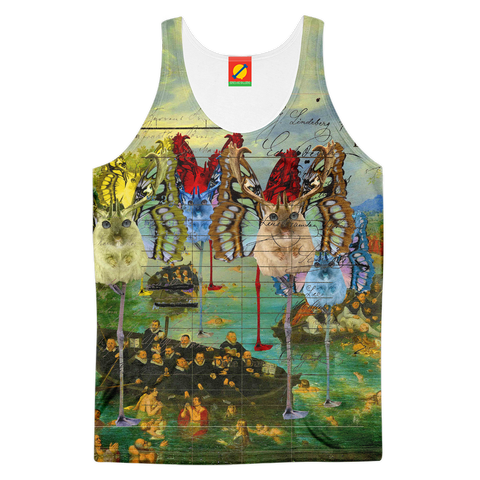 ANIMAL MIX CREATURES AND LOST SOULS AT SE Men's All Over Print Tank Top