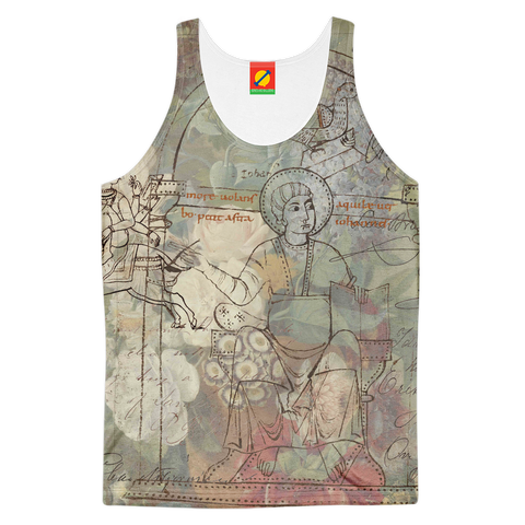 FLOWER PAINTING X MISC. ILLUSTRATIONS Men's All Over Print Tank Top