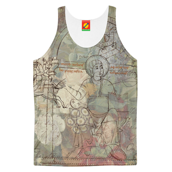 FLOWER PAINTING X MISC. ILLUSTRATIONS Women's All Over Print Tank Top