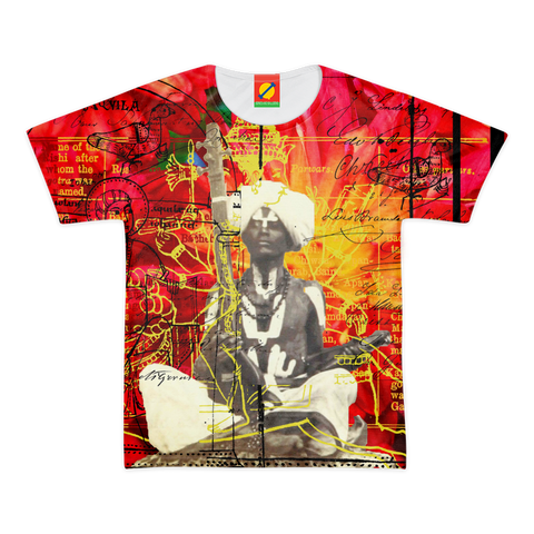 THE SITAR PLAYER Women's All Over Print Tee