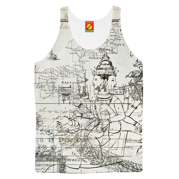 MAP AND SOME ILLUSTRATIONS Women's All Over Print Tank Top