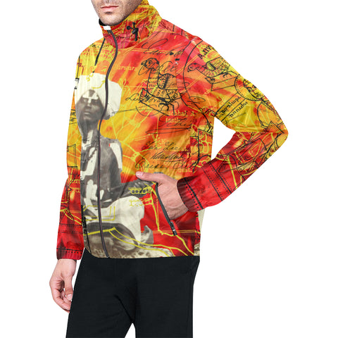 THE SITAR PLAYER All Over Print Windbreaker for Men