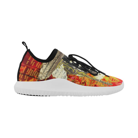 THE SITAR PLAYER Ultra Light All Over Print Running Shoes for Men
