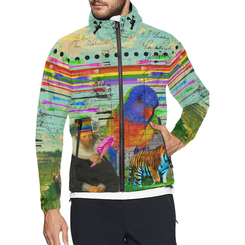 THE BIG PARROT All Over Print Windbreaker for Men