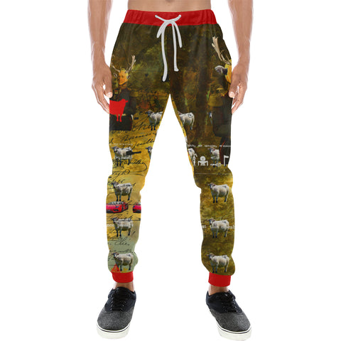BOVINE Men's All Over Print Sweatpants
