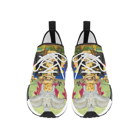 THE WHITE FEATHER HEADDRESS Men's All Over Print Running Shoes