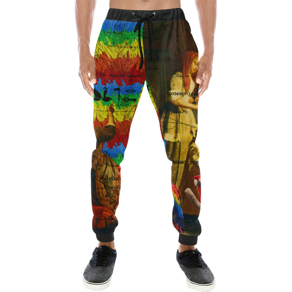 AND THIS, IS THE RAINBOW BRUSH CACTUS. II Men's All Over Print Sweatpants