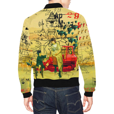 HERE, TAKE IT II All Over Print Bomber Jacket for Men