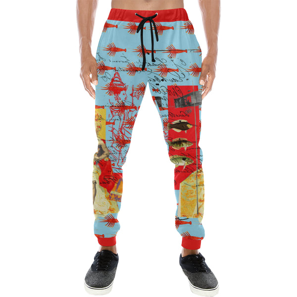 THE SHOWY PLANE HUNTER AND FISH IV Men's All Over Print Sweatpants