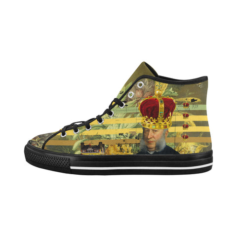 THE FOUR CROWNS Women's All Over Print Canvas Sneakers