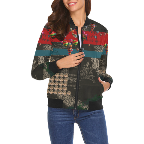 THE HEDGEHOG SOUP UPPER III IV All Over Print Bomber Jacket for Women