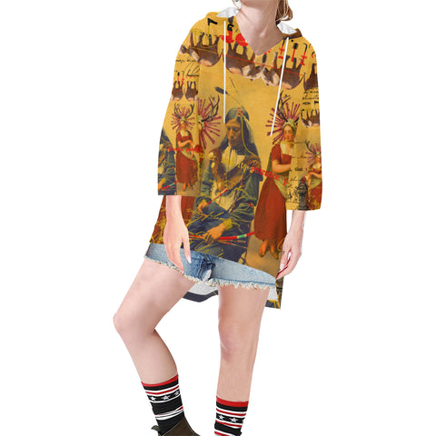 THE OLD PHOTO I Unisex Step Hem Tunic Hoodie