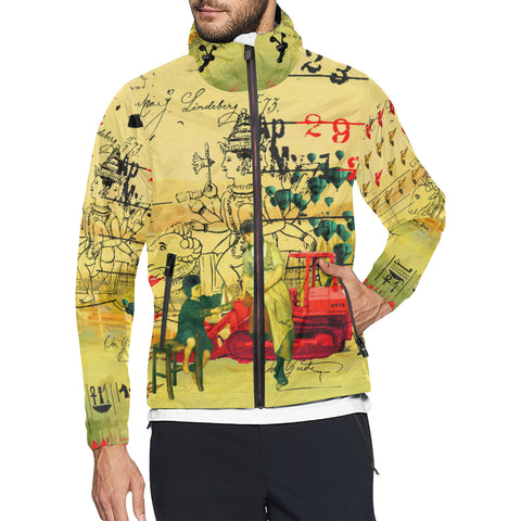 HERE, TAKE IT II All Over Print Windbreaker for Men