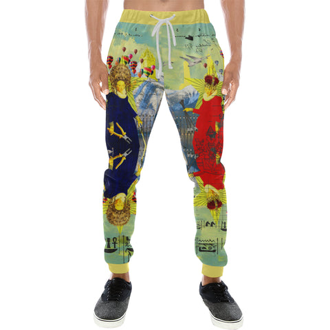 THE LAMPPOST INSTALLATION CREW VIII Men's All Over Print Sweatpants