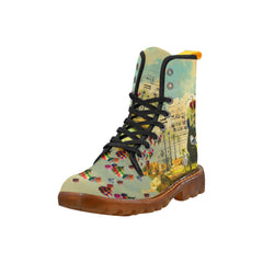 GIVE ME THE CONVERSE Women's All Over Print Fabric High Boots