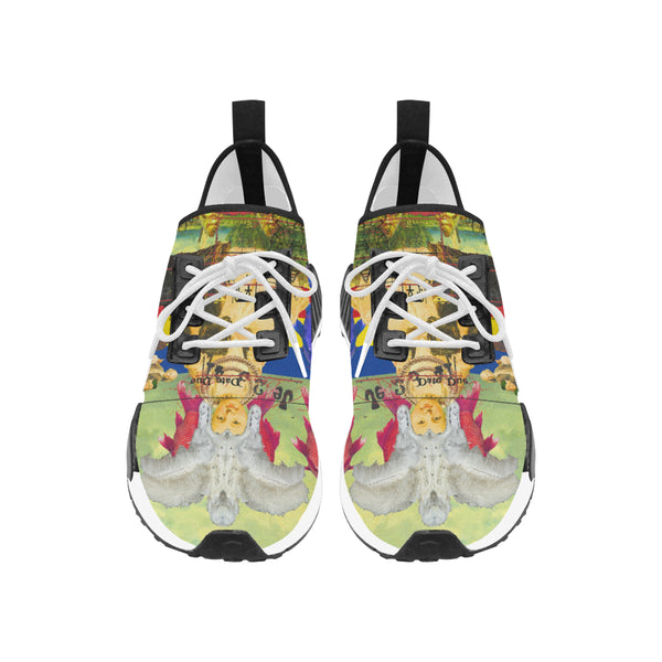THE WHITE FEATHER HEADDRESS Women's All Over Print Running Shoes