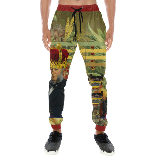 THE FOUR CROWNS Men's All Over Print Sweatpants
