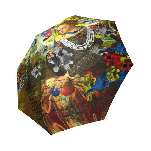 THE PLANE TECHNICIAN / UNPAINTER Foldable Umbrella