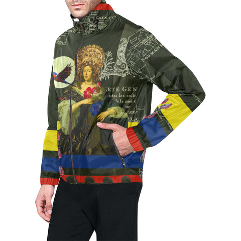 THE FLOWERS OF THE QUEEN All Over Print Windbreaker for Men