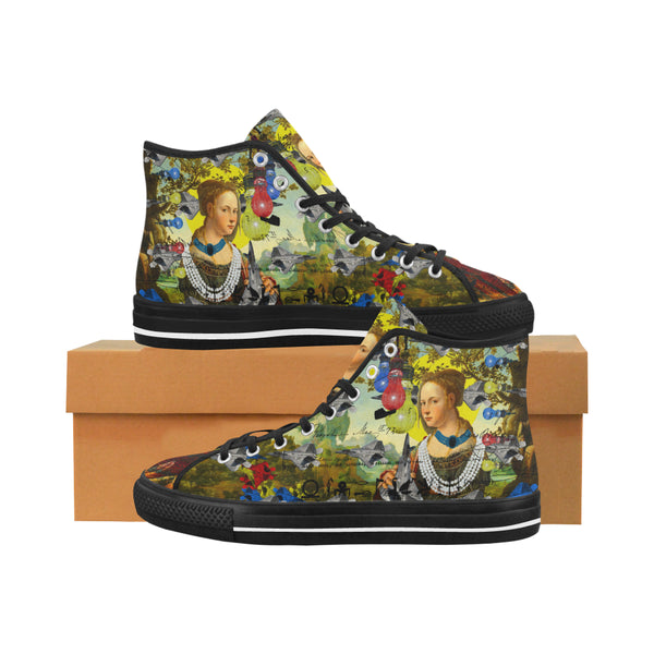 THE PLANE TECHNICIAN / UNPAINTER Men's All Over Print Canvas Sneakers