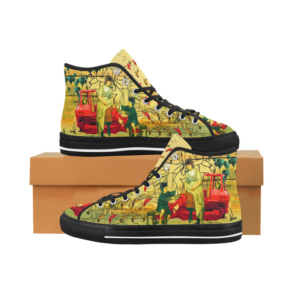 HERE, TAKE IT II Men's All Over Print Canvas Sneakers