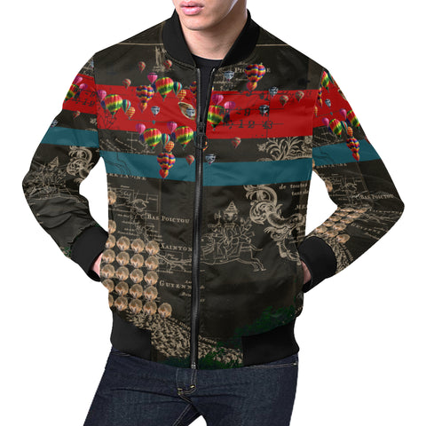 THE HEDGEHOG SOUP UPPER III IV All Over Print Bomber Jacket for Men