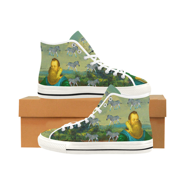 A PACKAGE FOR THE ZEBRAS Men's All Over Print Canvas Sneakers