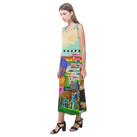 THE BIG PARROT Sleeveless Dress