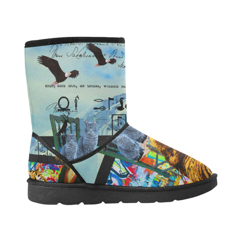 THE EMPEROR OF SNOWY MOUNTAIN III Unisex All Over Print Snow Boots