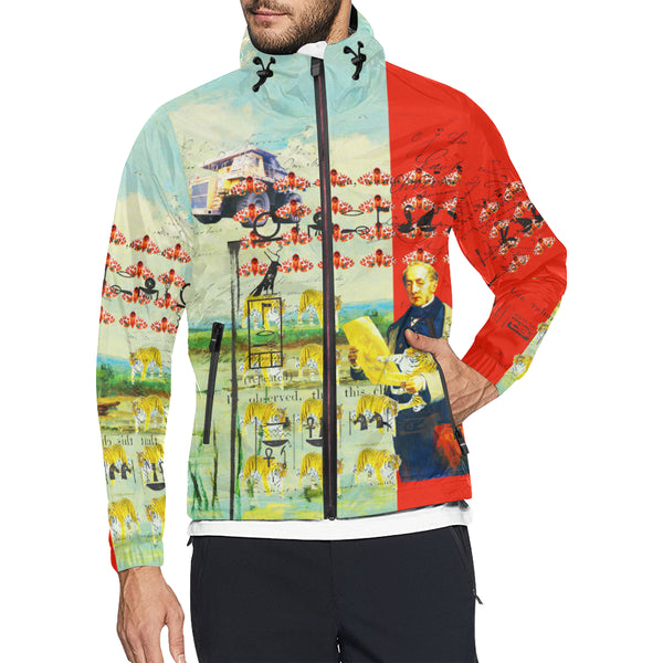 ACCORDING TO PLAN. All Over Print Windbreaker for Men