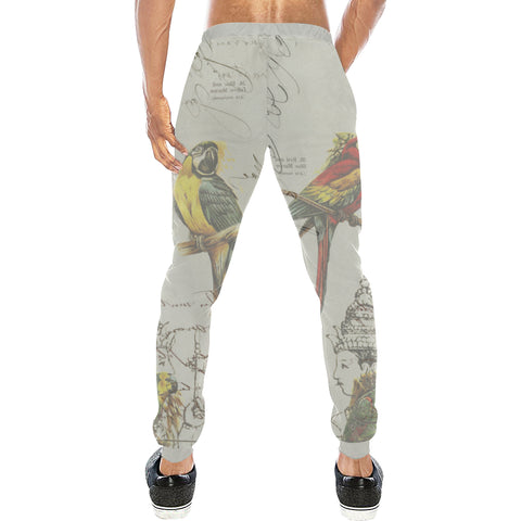 THE PARROT MAP II Men's All Over Print Sweatpants