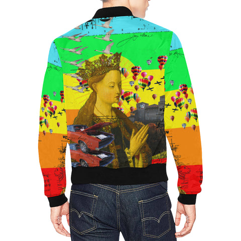 PRAYER All Over Print Bomber Jacket for Men