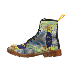 THE LAMPPOST INSTALLATION CREW VIII Women's All Over Print Fabric High Boots