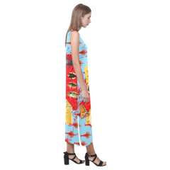 THE SHOWY PLANE HUNTER AND FISH IV Sleeveless Dress