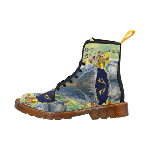THE LAMPPOST INSTALLATION CREW VIII Men's All Over Print Fabric High Boots